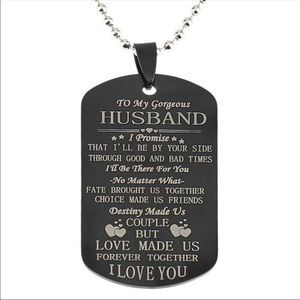 Other - To My Husband ❤️ Dog Tag Necklace